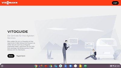 Anmeldebildschirm VitoGuide Plattform