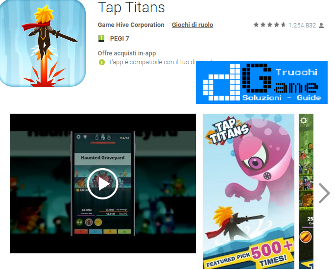 Soluzioni Tap Titans livello 41 42 43 44 45 46 47 48 49 50 | Trucchi e  Walkthrough level