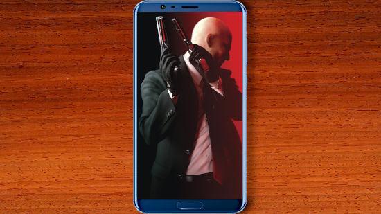 Hitman Avec Ses Pistolets - Ambiance Rouges - FHD pour Mobile