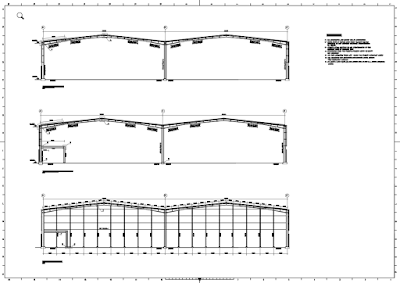 Steel structure drawings and connections