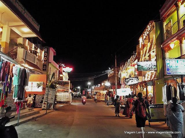 Comércio noturno em Mahabalipuram