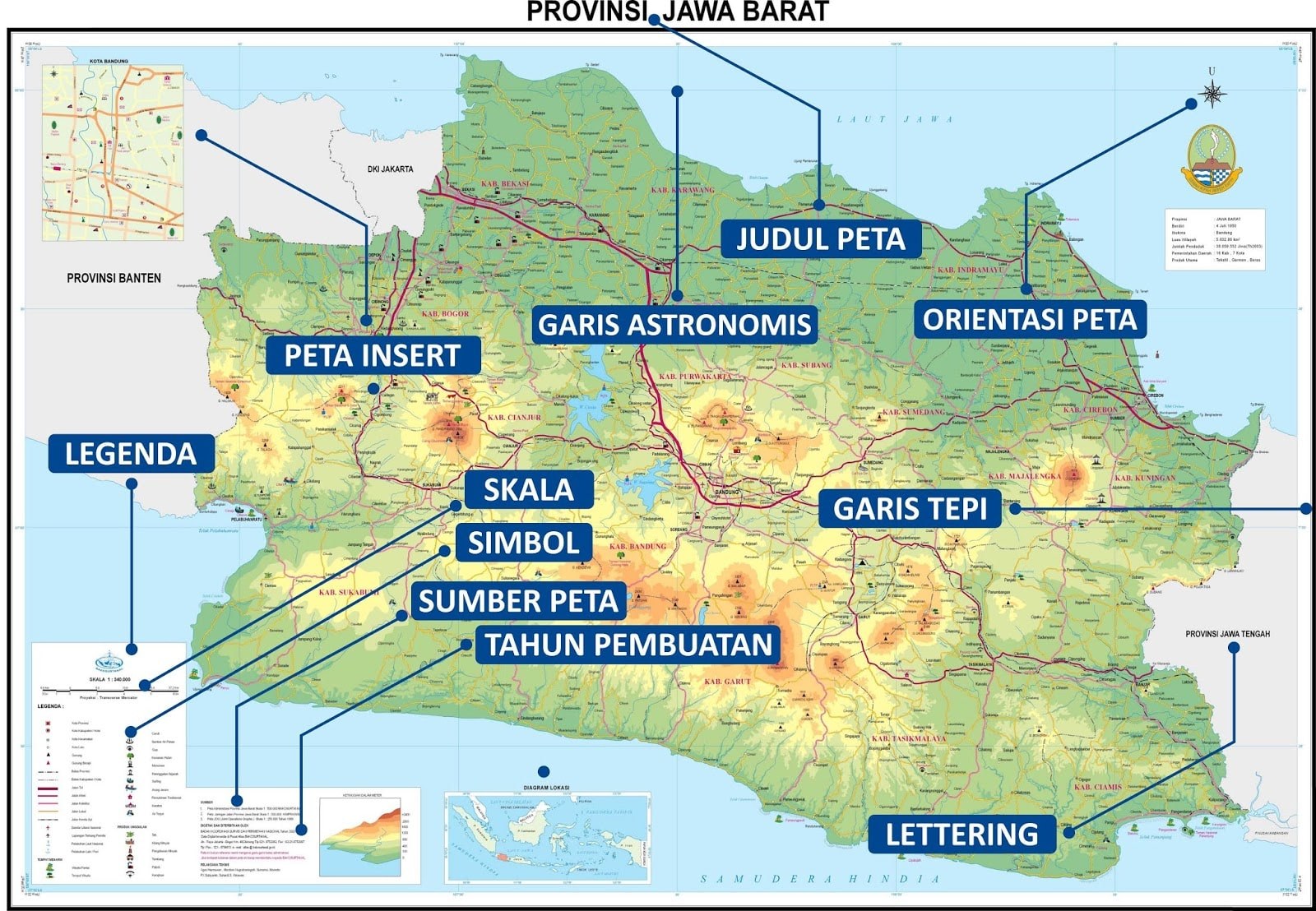 10 Komponen Peta Beserta Penjelasannya