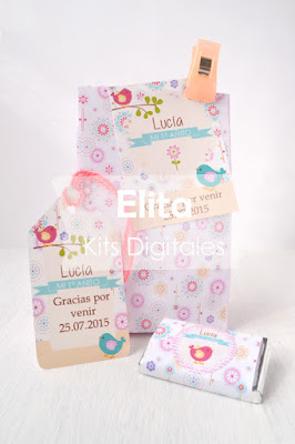 Kit Imprimible para cumpleaños - Bolsita Sorpresa Souvenir