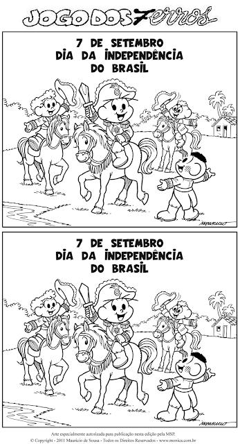 Jogo dos 7 Erros - Dia 7 de setembro - Dia da Independência do Brasil