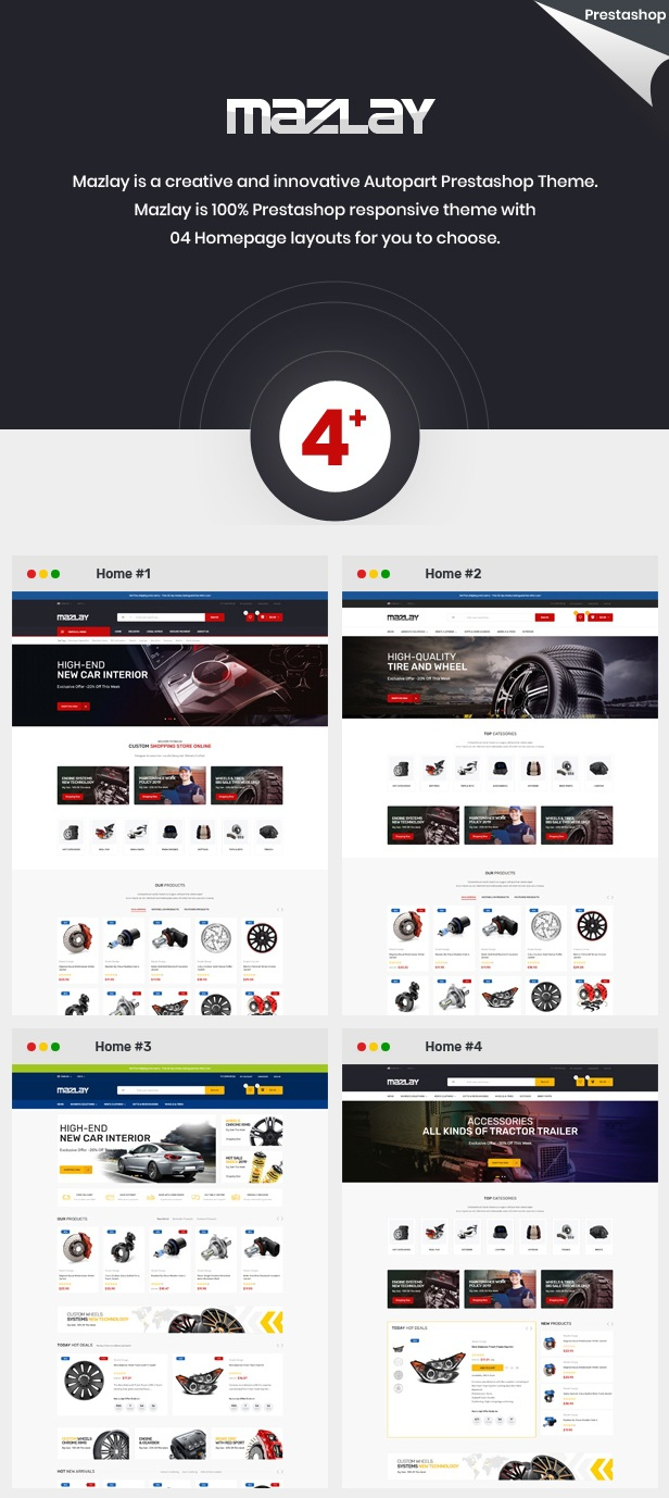 Car Accessories Prestashop Theme