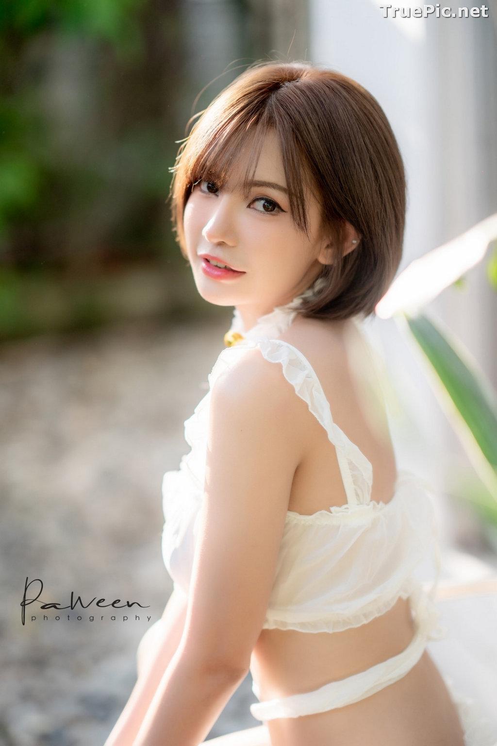 Image Thailand Model - Sutasinee Nokia Sirirak - White Sexy Bikini - TruePic.net - Picture-3