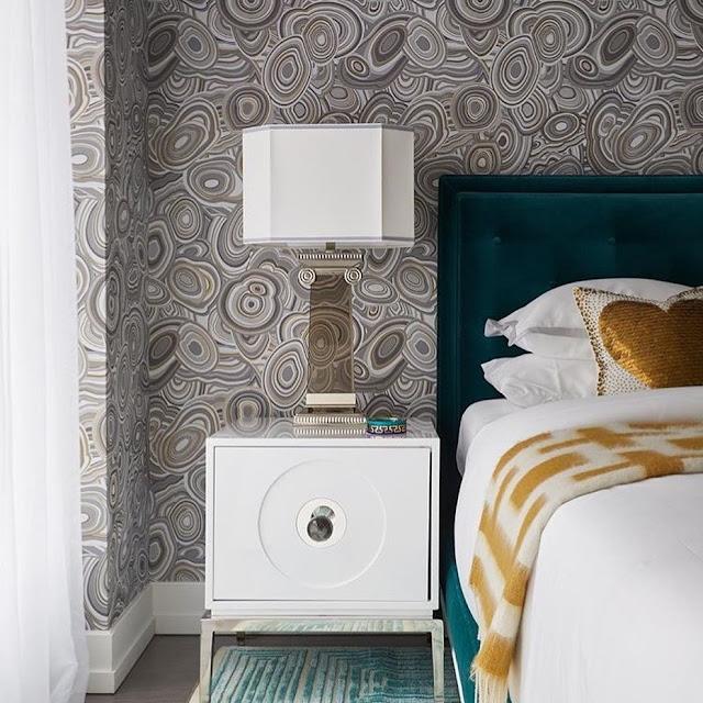 Wallpaper Dinding Kamar Tidur Minimalis Hitam Putih