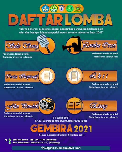 GEBYAR MAHASISWA BIDIKMISI NUSANTARA 2021