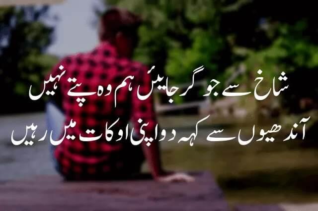 Shakh se jo gir jaein - Poetry About Attitude In Urdu