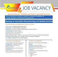 ITI/ Diploma/ B.Sc/ B.Pharm/ D. Pharm Jobs Vacancy in Amneal Pharma Company Gujarat Location