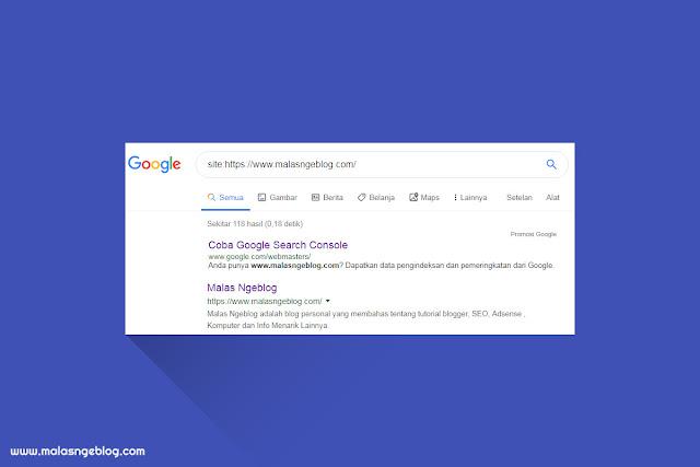 Cara Melihat Blog Sendiri di Hasil Pencarian Google