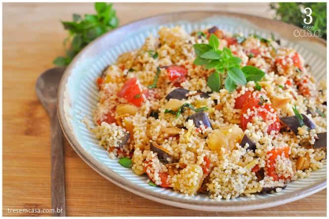 como fazer cuscuz marroquino com legumes