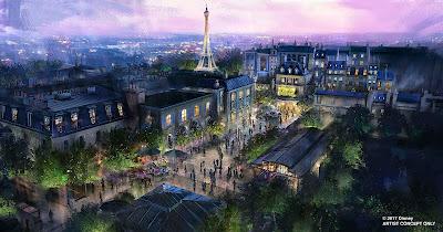 Ratatouille Gardens Concept Art Epcot Disney World