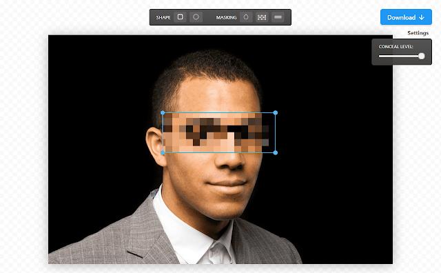 كيفية تشويش وتضبيب أجزاء من الصورة بدون برامج اون لاين