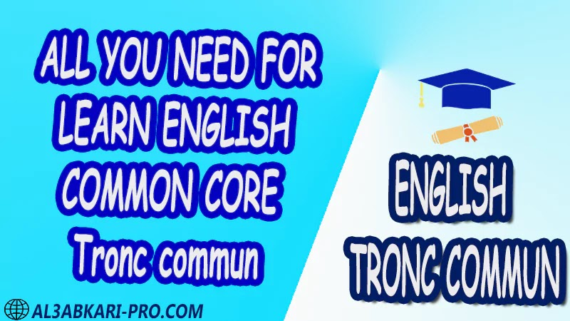 English Common core anglais Learn English Online translating anglaise facile Tronc commun Sciences Letters Humanities,