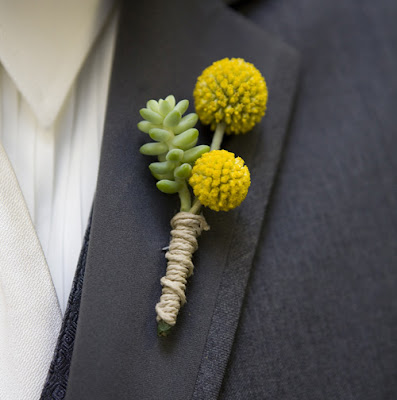 twined wrapped boutonniere