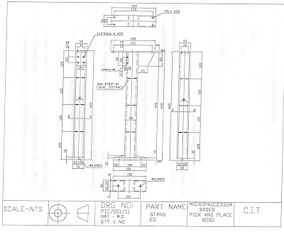 Industrial Pick and Place Robo: MECHANICAL COMPONENTS DRAWINGS