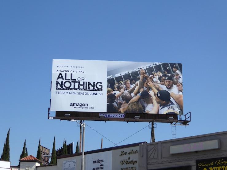 All or Nothing season 2 Rams billboard