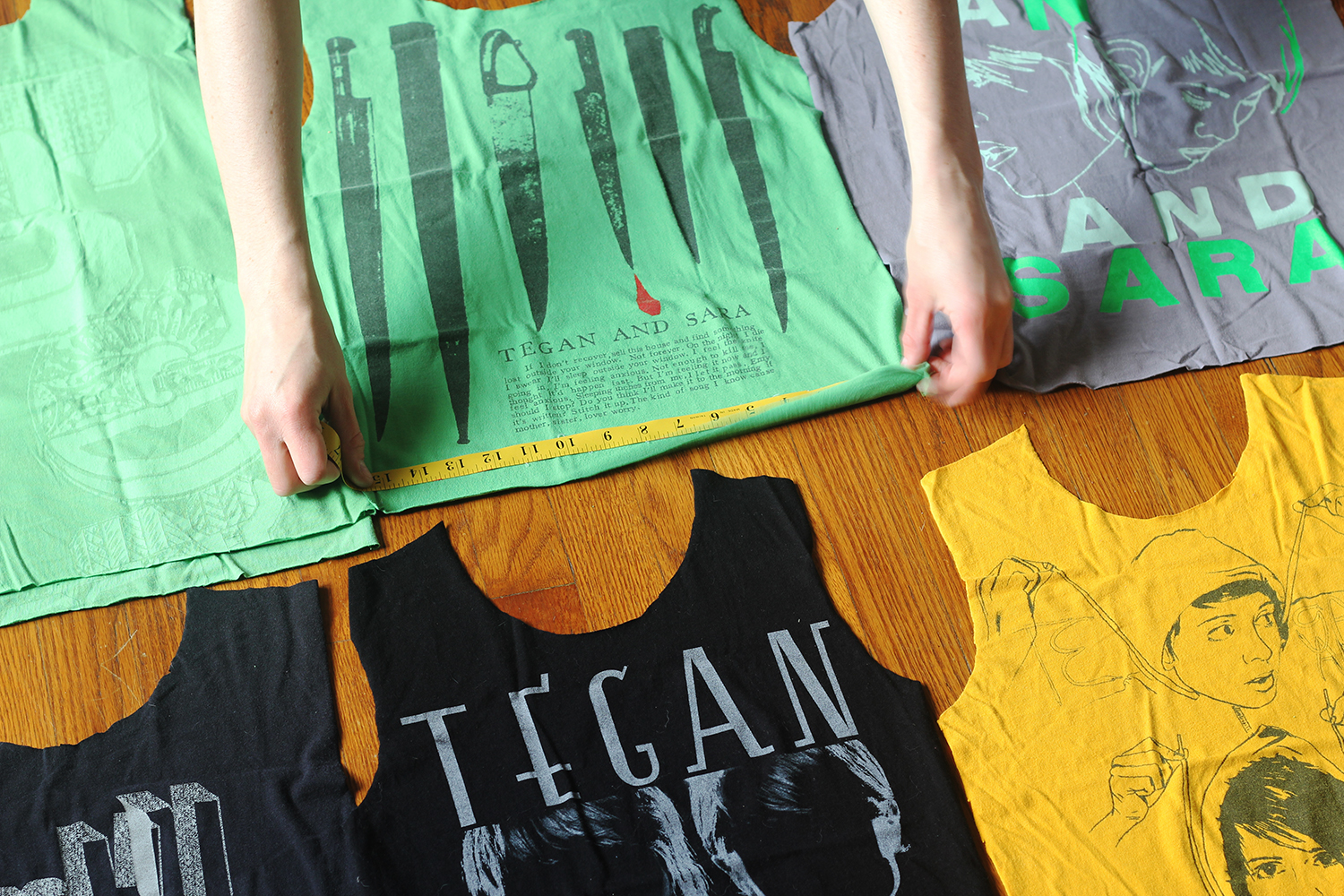 DIY T-Shirt Quilt: Measure twice, cut once!