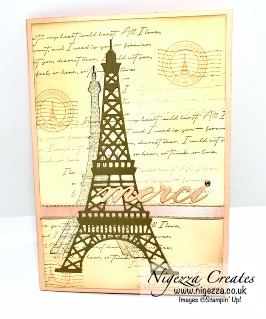 Nigezza Creates With Stampin Up & Parisian Beauty, Shabby Chic Card