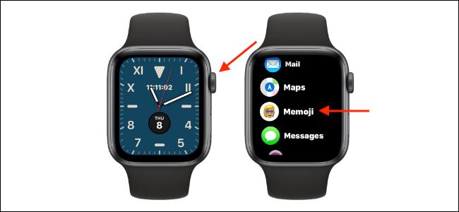 افتح تطبيق Memoji على Apple Watch