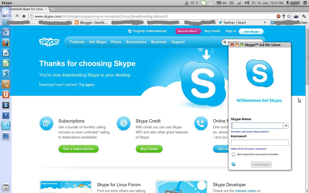 Alte Skype Version