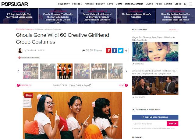 Popsugar Sushi Group Costume Feature