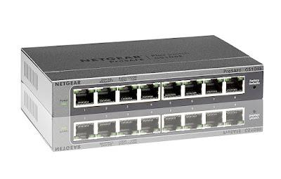 Netgear GS108E-300PES - Switch ProSAFE (8 puertos Gigabit Ethernet Web Managed y garantía durante su vida útil)