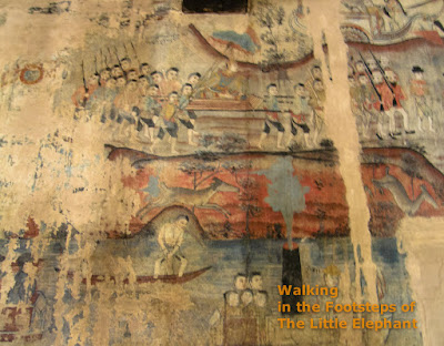 Murals at the Wat Nong Bua - Nan Thailand
