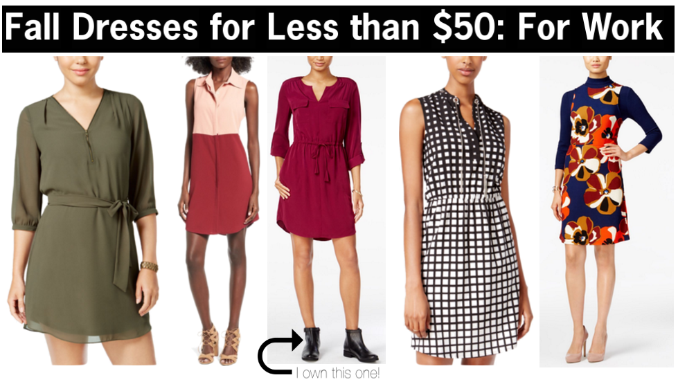 fall dresses for work that cost less than $50 | cute fall dresses to wear to work | dresses to wear to work this fall | a memory of us