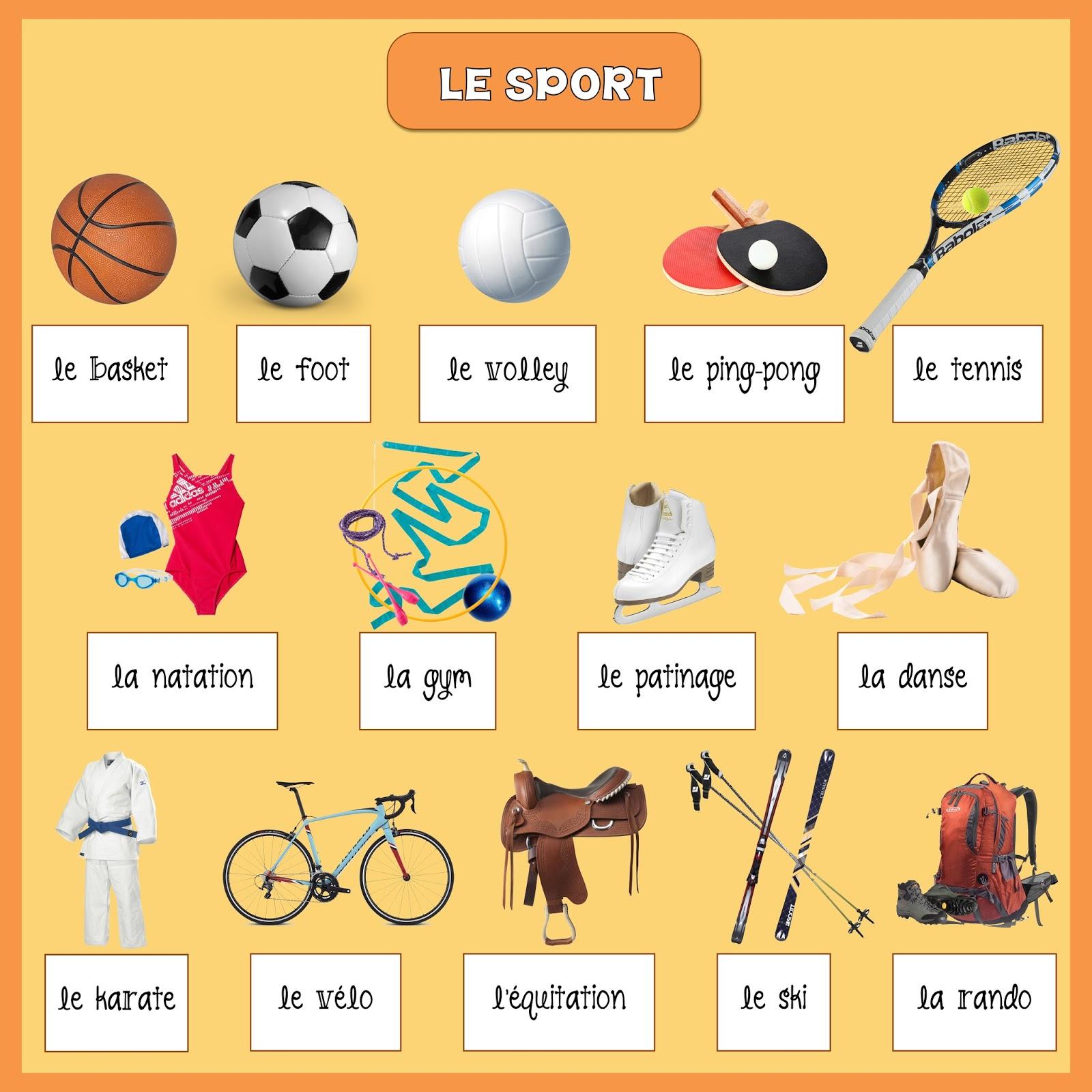 Sport - słownictwo 4 - Francuski przy kawie