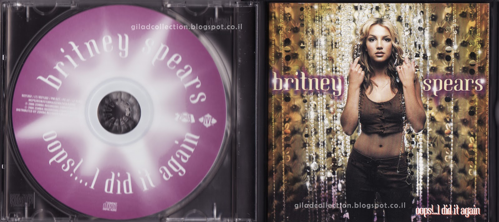 Britney Spears Collection By Gilad Oops I Did It Again Stronger Edition Singapore Cd Vcd Limited Edition