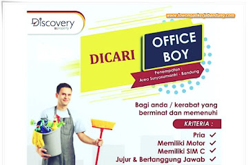 Lowongan Kerja Bandung Office Boy Discovery Property