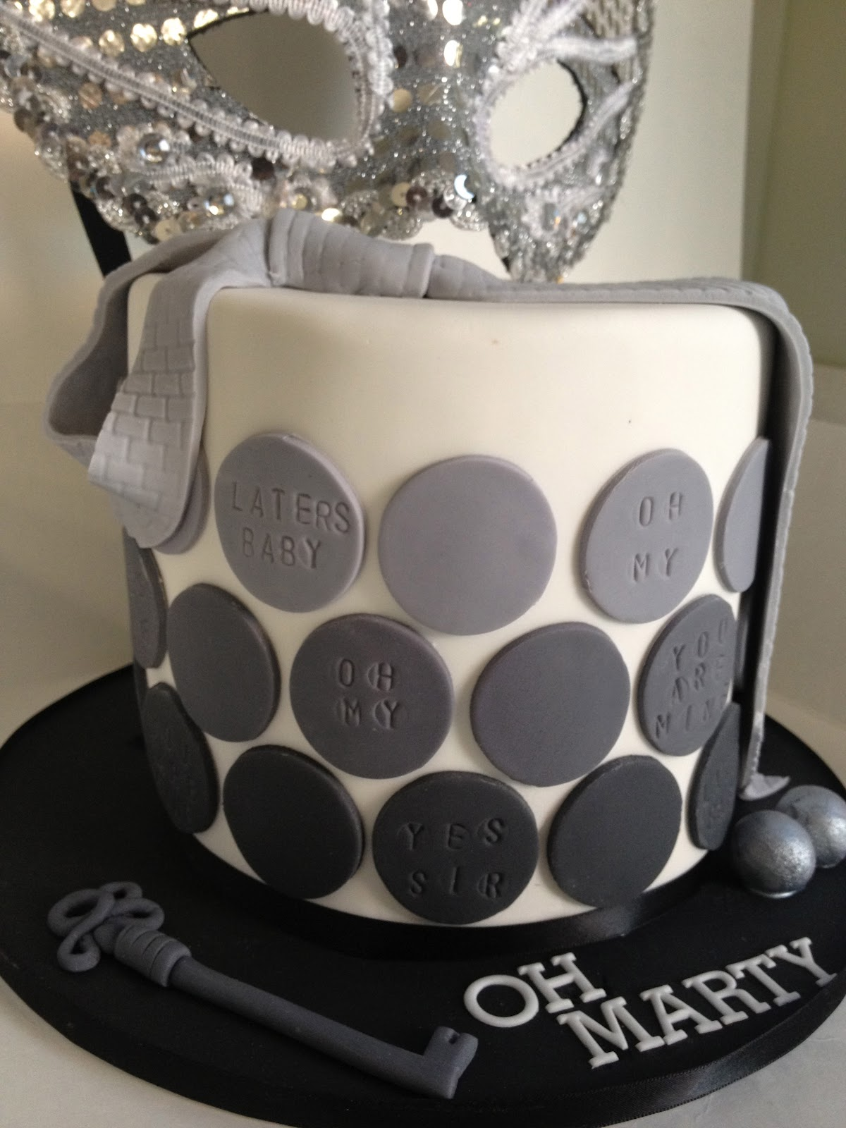Baked By Design 50 Shades Of Grey 30th Birthday Cake