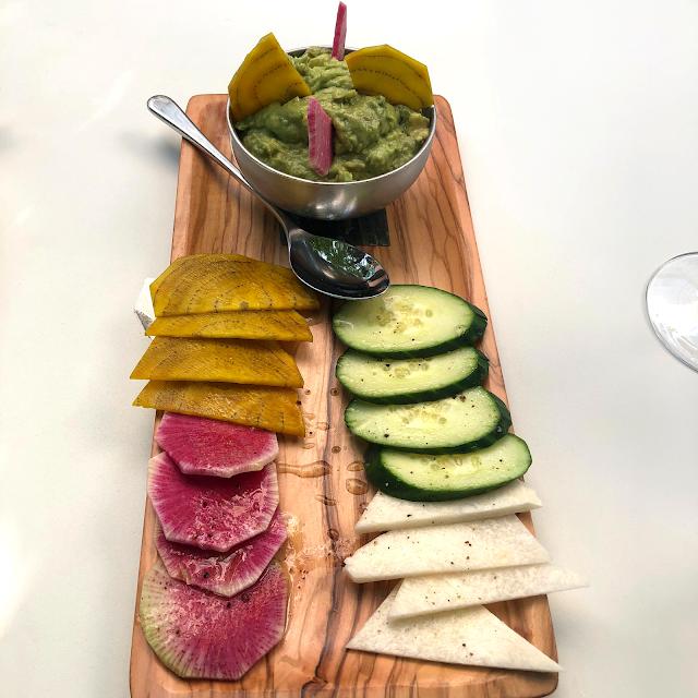 Vibrant and healthy guacamole plate tempts at Mesa Urbana in Lincoln Park.