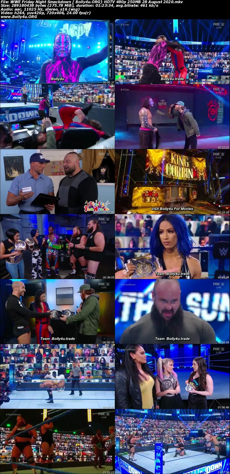 WWE Friday Night Smackdown HDTV 480p 250MB 28 August 2020 Download