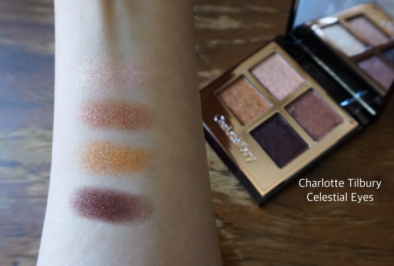 Charlotte Tilbury Luxury Palette fo Pops Celestial Eyes review swatch