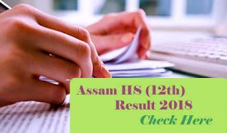 Assam HS Results 2018, Assam 12th Results 2018, AHSEC Result 2018