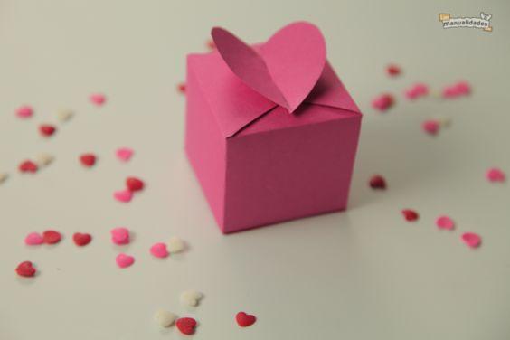regalo caja corazón diy para san valentin facil y económico