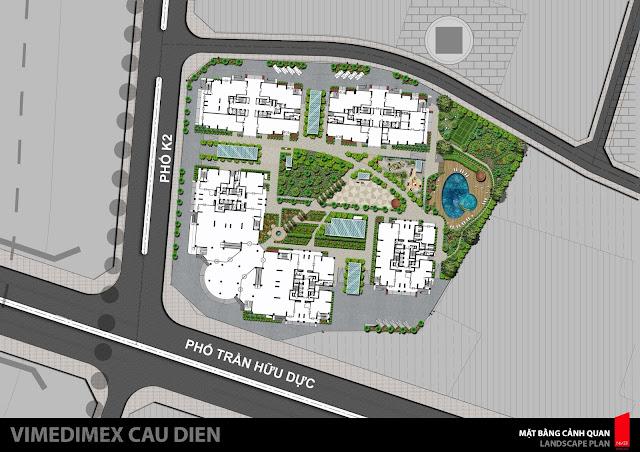 Mặt bằng bố trí toàn khu dự án Iris Garden