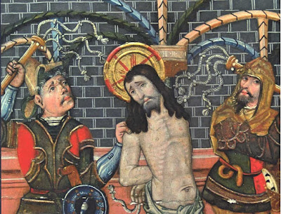 flagelacion de cristo azote latigo medieval pintura gotica