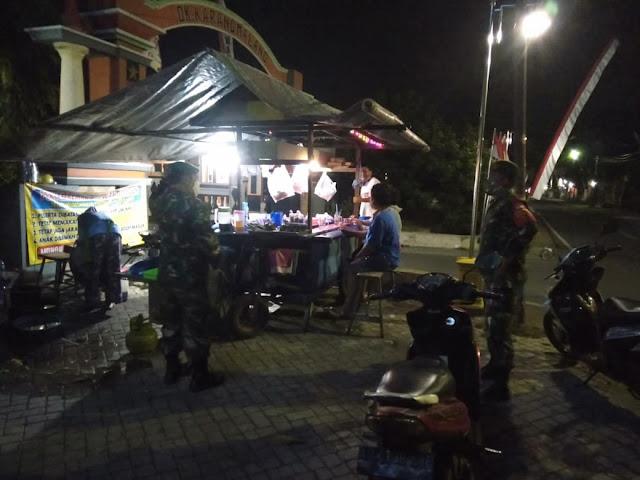 Kodim Sragen - Koramil Karangmalang - Polsek Patroli Penegakan Disiplin Protokol Kesehatan