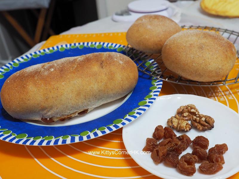 Dragon Eye Nuts Wheat Bread DIY recipe 桂圓核桃麥包 自家烘焙食譜