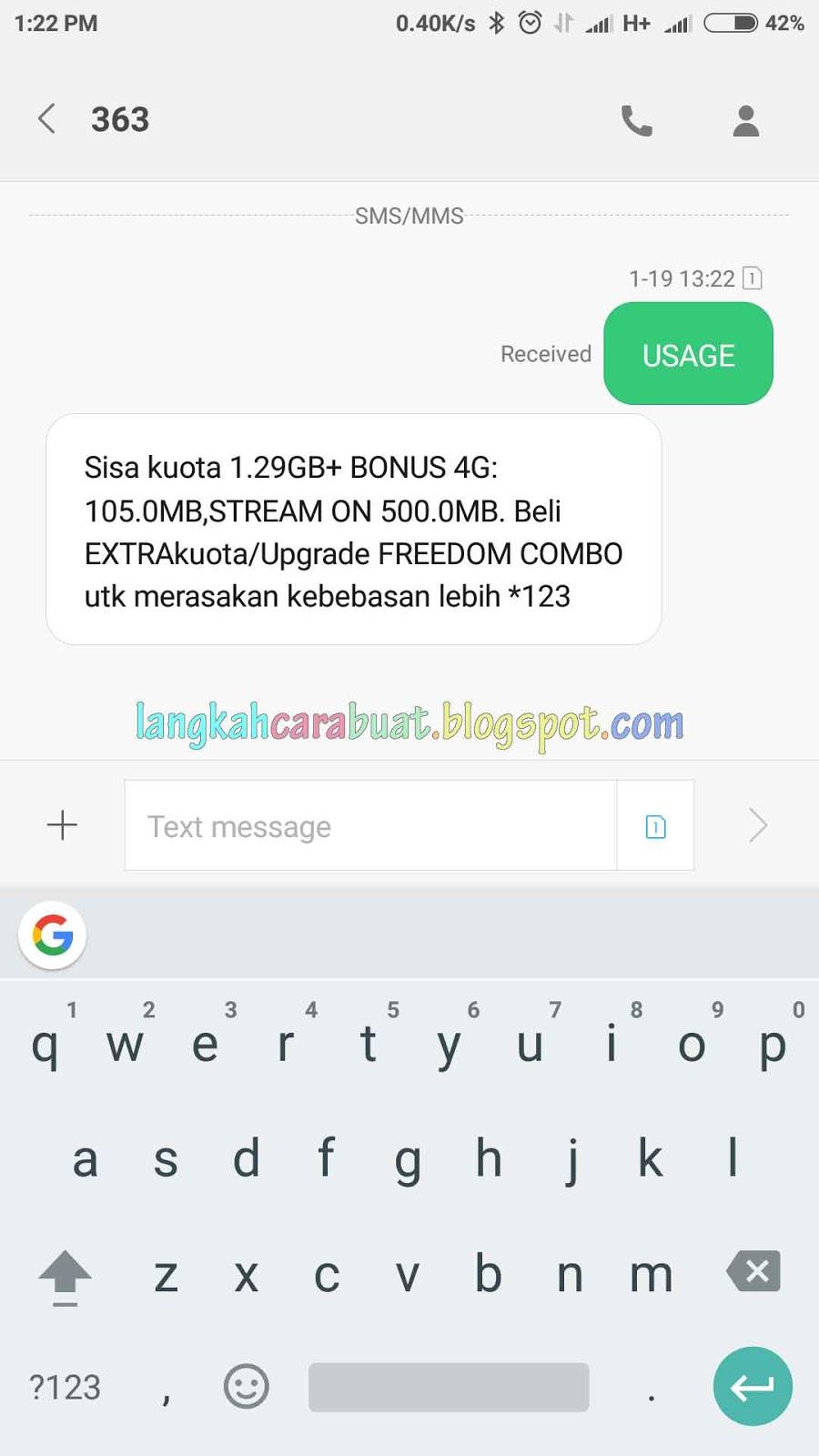 Cara Mengecek Kuota Im3 Ooredoo Dan Indosat Mentari Terbaru 2017 3gb