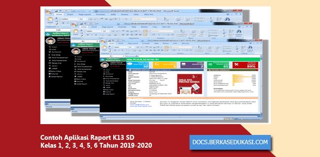 Contoh Aplikasi Raport K13 SD Kelas 1, 2, 3, 4, 5, 6 Tahun 2019-2020