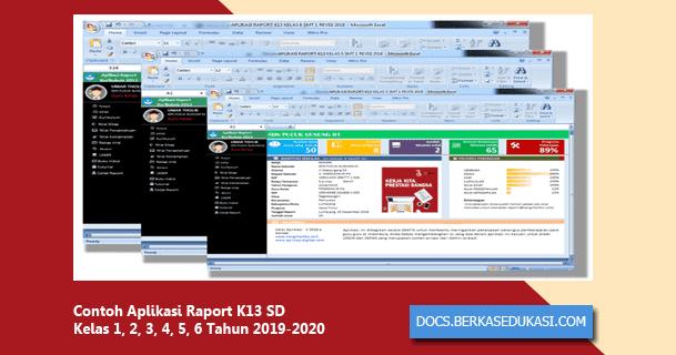 Contoh Aplikasi Raport K13 Sd Kelas 1 2 3 4 5 6 Tahun 2019 2020 Dokumen Berkas Edukasi