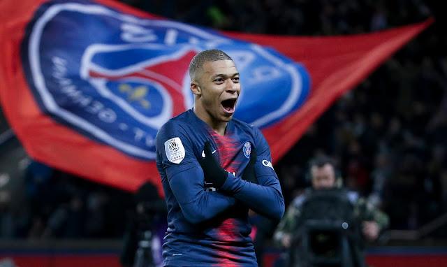 PSG forward Kylian Mbappe