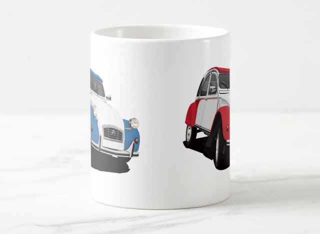 Classic car: Citroën 2CV two-image coffee mug