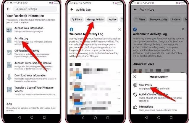 طريقة حذف منشورات الفيسبوك القديمة وبضغطة واحدة بدون تطبيقات