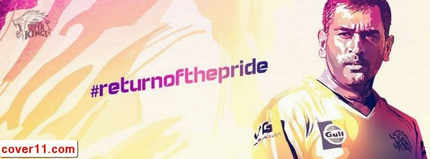 MS Dhoni CSK Facebook Covers Facebook Covers/Timeline Covers